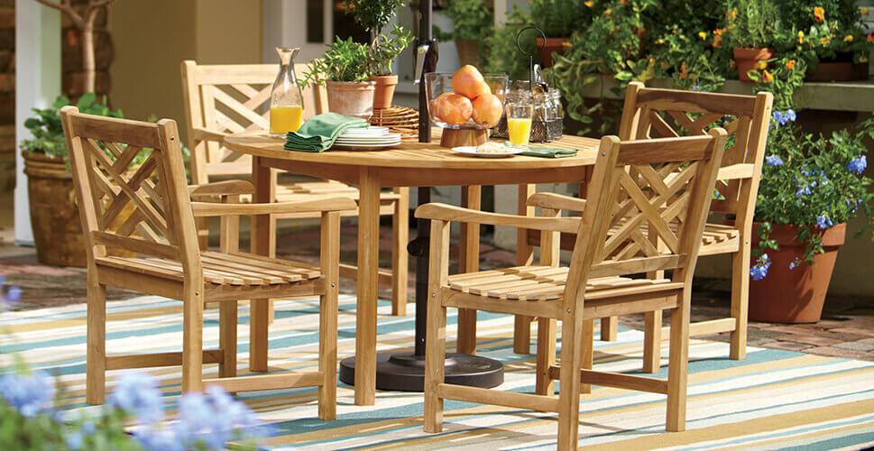 میز و صندلی چوبی فضای باز | خرید میز و صندلی چوبی فضای باز | میز و صندلی چوبی ترموود