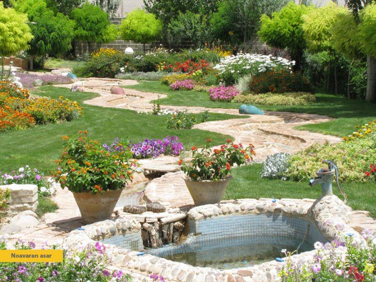 تاثیر گل ها و گیاهان بر محوطه سازی ویلا